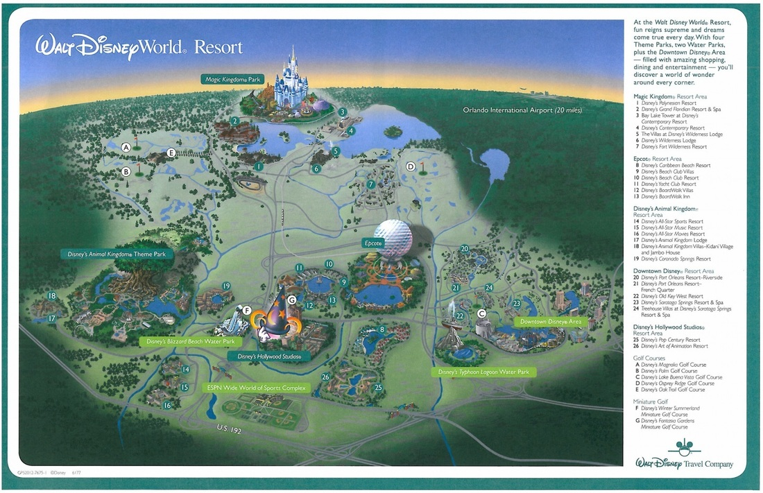 Disney World Resort Map Graybijius – Disney World Map